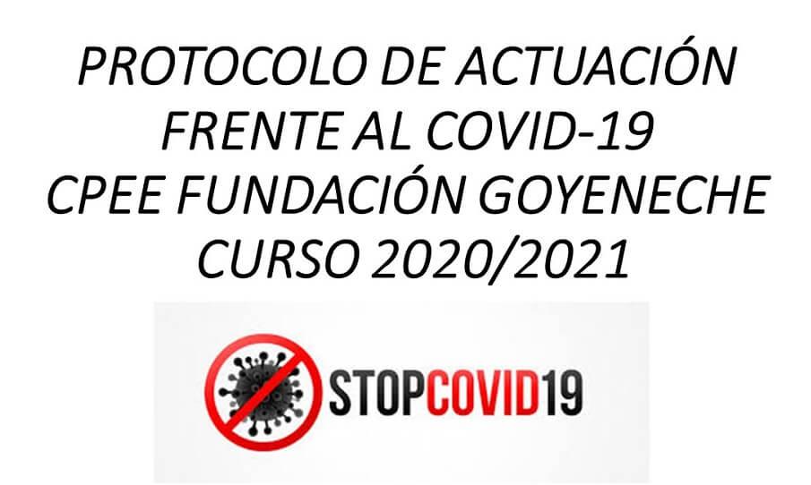 PROTOCOLO ACTUACIÓN EN EL CENTRO FRENTE AL COVID-19